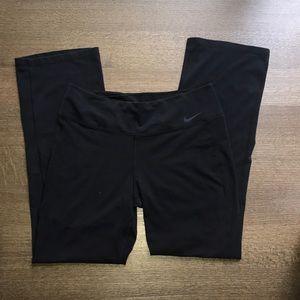 used Nike black wide leg leggings size L dri fit